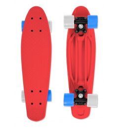Skateboard FIZZ BOARD Red, Blue-White PU, red