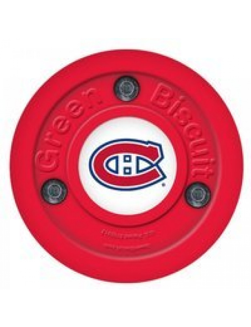 Puk Green Biscuit NHL Montreal Canadiens Red