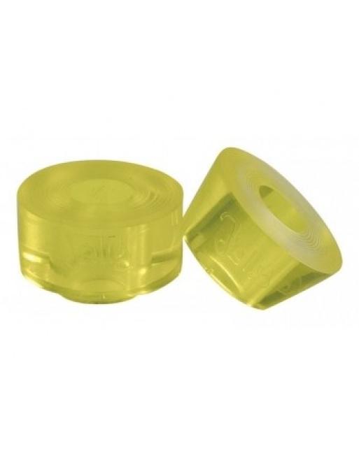 Jelly Derby Cushions Chaya Yellow 12x12mm (4pcs)