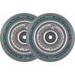 North Vacant wheels 110mm silver 2pcs