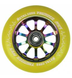 Metal Core Thunder Rainbow 110 mm round yellow