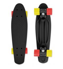 Skateboard FIZZ BOARD Black, Red-Yellow PU, black