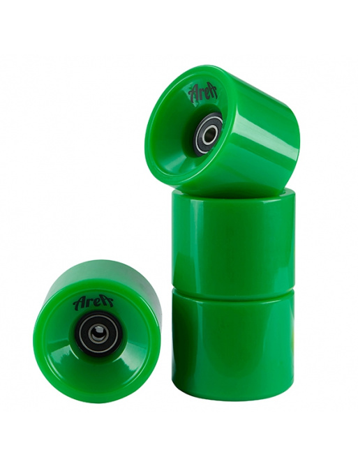 Area wheels 4 pieces green