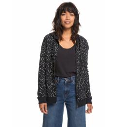 Roxy Sweatshirt Trippin 797 kvj8 true black dots for 2018/19 women vell.L