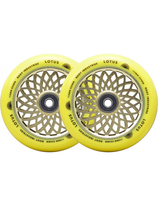 Root Lotus wheels 110x24mm Radiant Yellow 2pcs