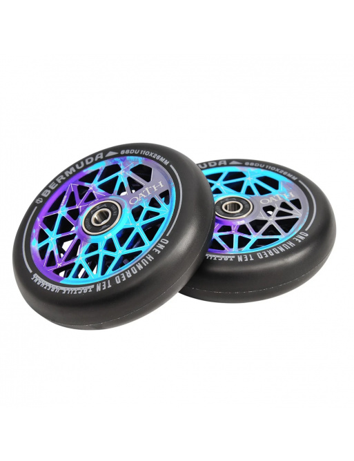 Wheels Oath Bermuda 110mm Blue / Purple / Titanium 2pcs