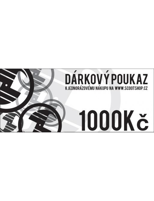 Gift voucher worth CZK 1000