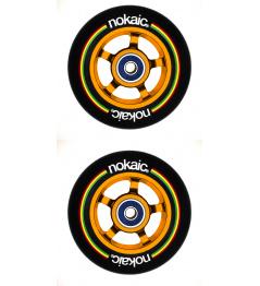 Wheels Nokaic 100mm BLACK / GOLD 2pcs