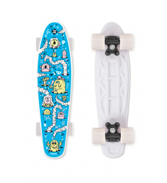 FIZZ Skateboard FUN BOARD Alarm Blue