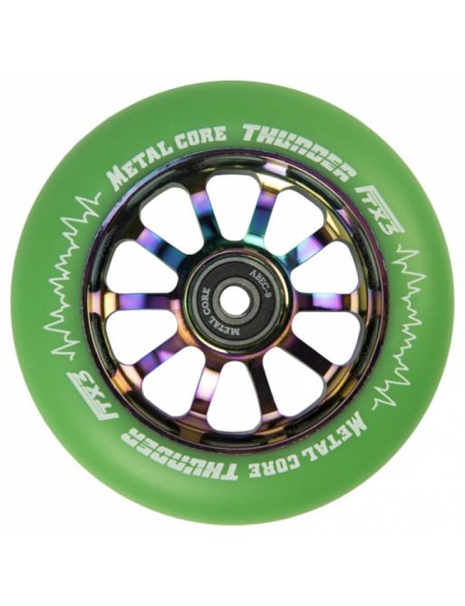 Metal Core Thunder Rainbow 110 mm green wheel