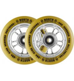 Wheels North Wagon 110mm Silver / Gum 2pcs