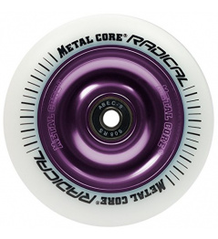 Metal Core Radical 110 mm round white violet