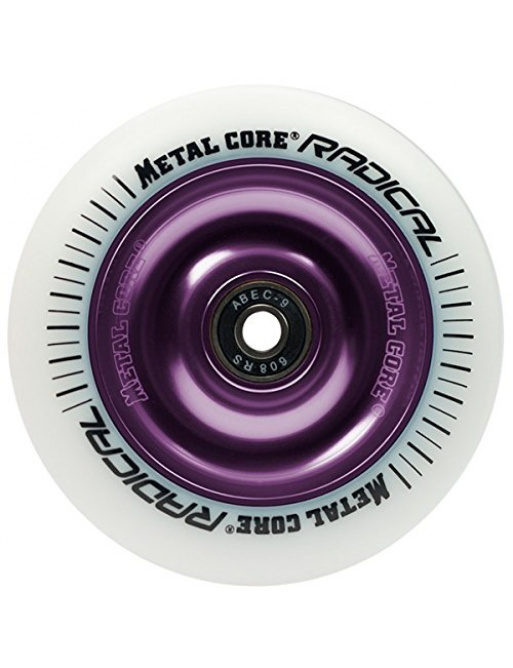 Metal Core Radical 110 mm round white violet