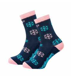Socks Horsefeathers Snowflakes indigo 2020/21 vell.7-8