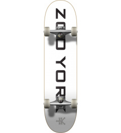 "Skateboard Zoo York Logo Block 7.75 ""White"