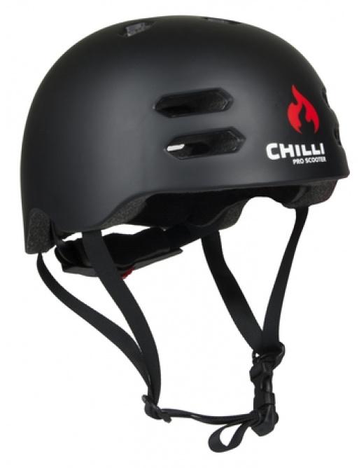 Chilli in-mold black helmet