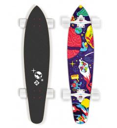 "Longboard Street Surfing KICKTAIL 36"" Space - artist series"