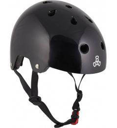 Helmet Triple Eight Brainsaver L-XL Black Glossy