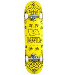 """Skateboard KFD Bandana Set 7.75 """"Yellow"""