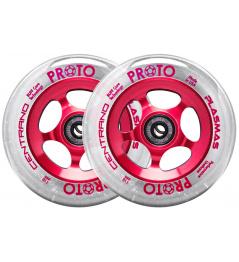 Wheels Proto Plasma 110mm Clear On Red 2pcs