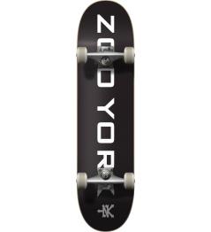"Zoo York Logo Block Complete Skateboard (8 ""  Black / White)"