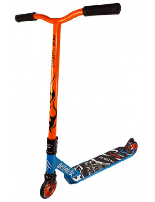 Bestial Wolf Demon MC Limited edition freestyle scooter blue