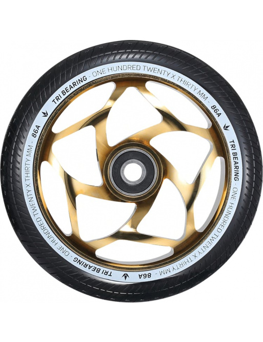 Wheel Blunt Tri bearing 120x30mm gold