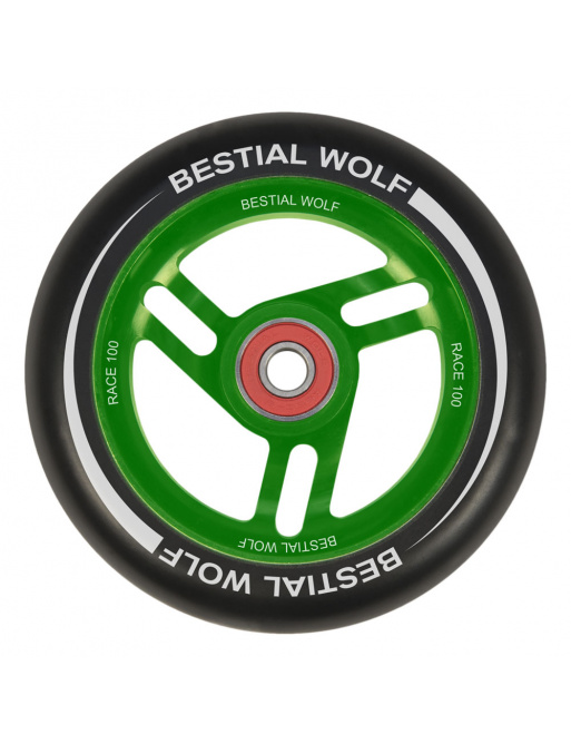 Bestial Wolf Race 100 mm wheel black-green