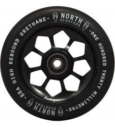 Wheel North Pentagon 120mm black