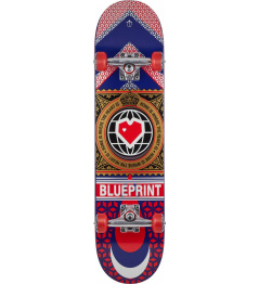 "Blueprint Skateboard Home Heart 7.75 ""Red"