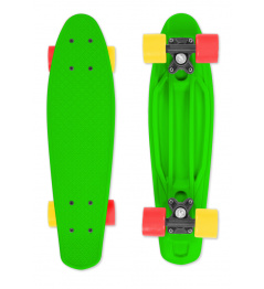Skateboard FIZZ BOARD Green, Red-Yellow PU, green