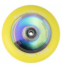 Metal Core Disc 110 mm castor yellow