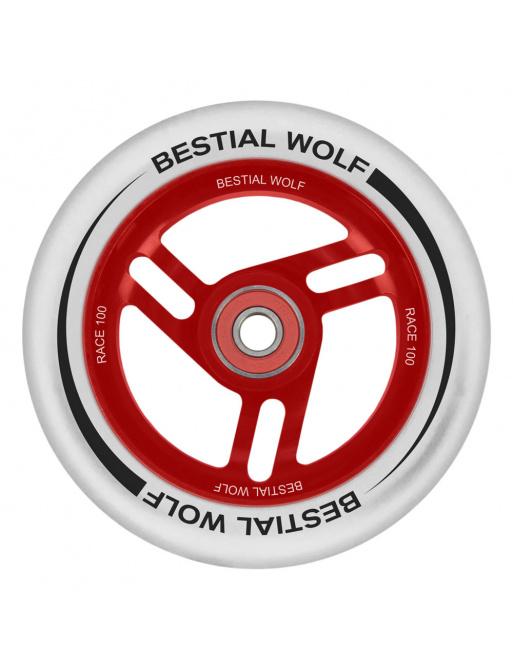 Bestial Wolf Race 100 mm white white wheel