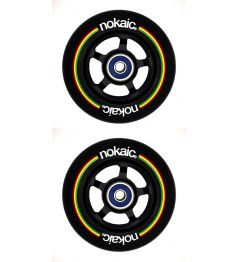 Wheels Nokaic 100mm BLACK / BLACK 2pcs