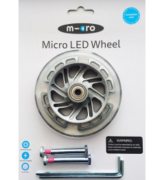 Illuminated 120 mm LED Wheels for Mini Micro - 2pcs
