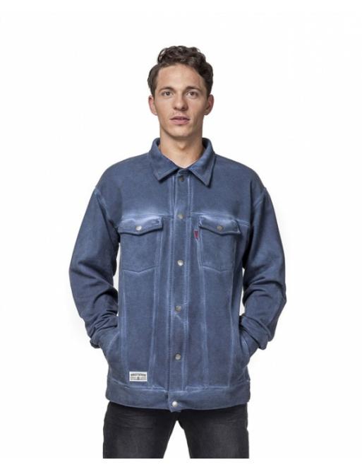 Horsefeathers Sweatshirt Danny washed indigo 2016 vell.XL