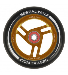 Bestial Wolf Race 110 mm wheel black orange
