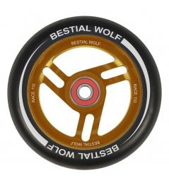 Bestial Wolf Race 110 mm wheel black orange
