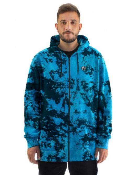 Horsefeathers Joshua sweatshirt blue tie dye 2021 vell.XXL