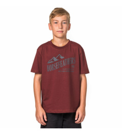 Horsefeathers Ripple t-shirt ruby 2017/18 vell.XXL