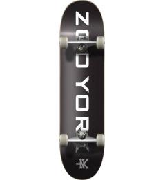 """Zoo York Skateboard OG 95 Logo Block 7.75 """"Black"""