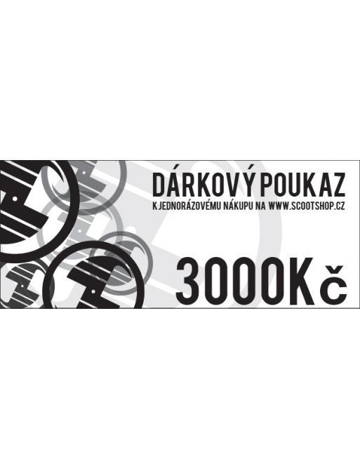 Gift voucher worth 3000 CZK