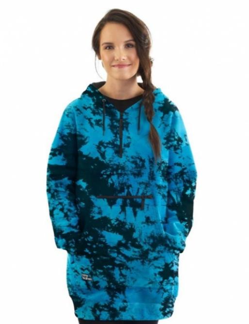 Horsefeathers Alita sweatshirt blue tie dye 2021 women's vell.S