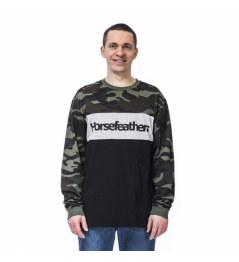 T-shirt Horsefeathers Spaz LS woodland 2020 vell.L
