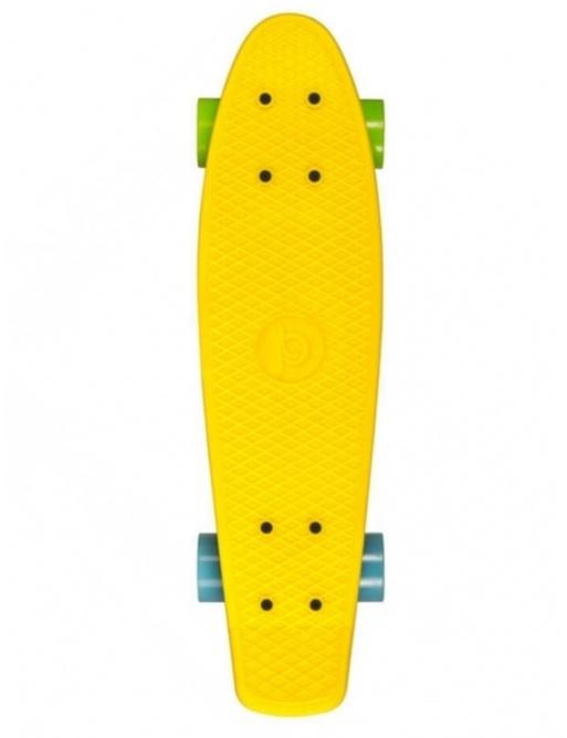Skateboard Playlife Vinyl Board, žlutá