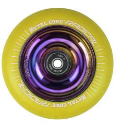 Metal Core Radical Rainbow 110 mm castor yellow